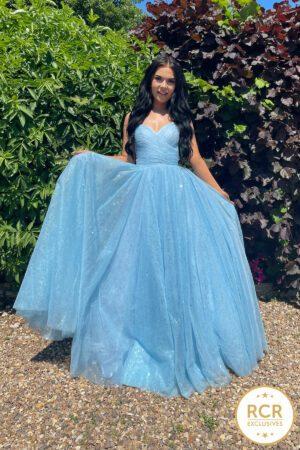 Cinderella blue princess ballgown