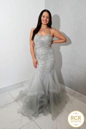 hilton silver dress embellished